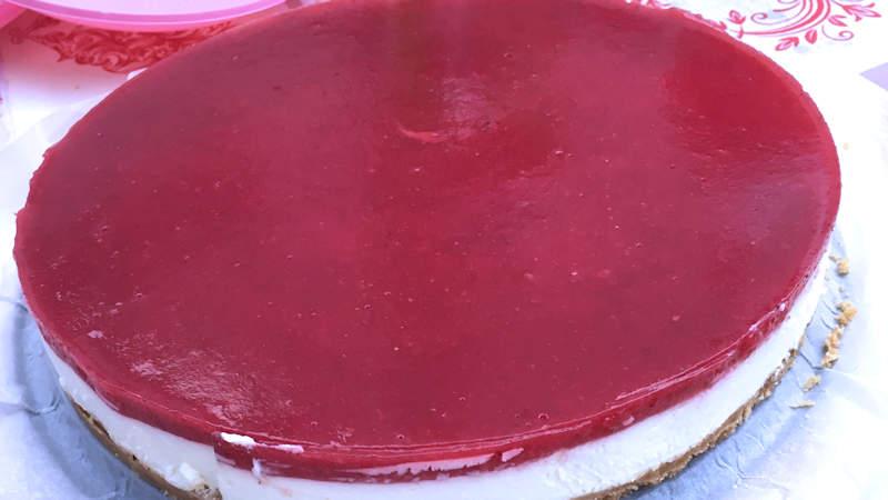 Cheesecake ai lamponi bimby